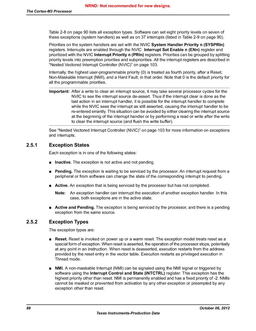 LM3S1B21 ,Texas Instruments厂商,Stellaris LM3S Microcontroller 100-LQFP -40 to 85, LM3S1B21 datasheet预览  第88页