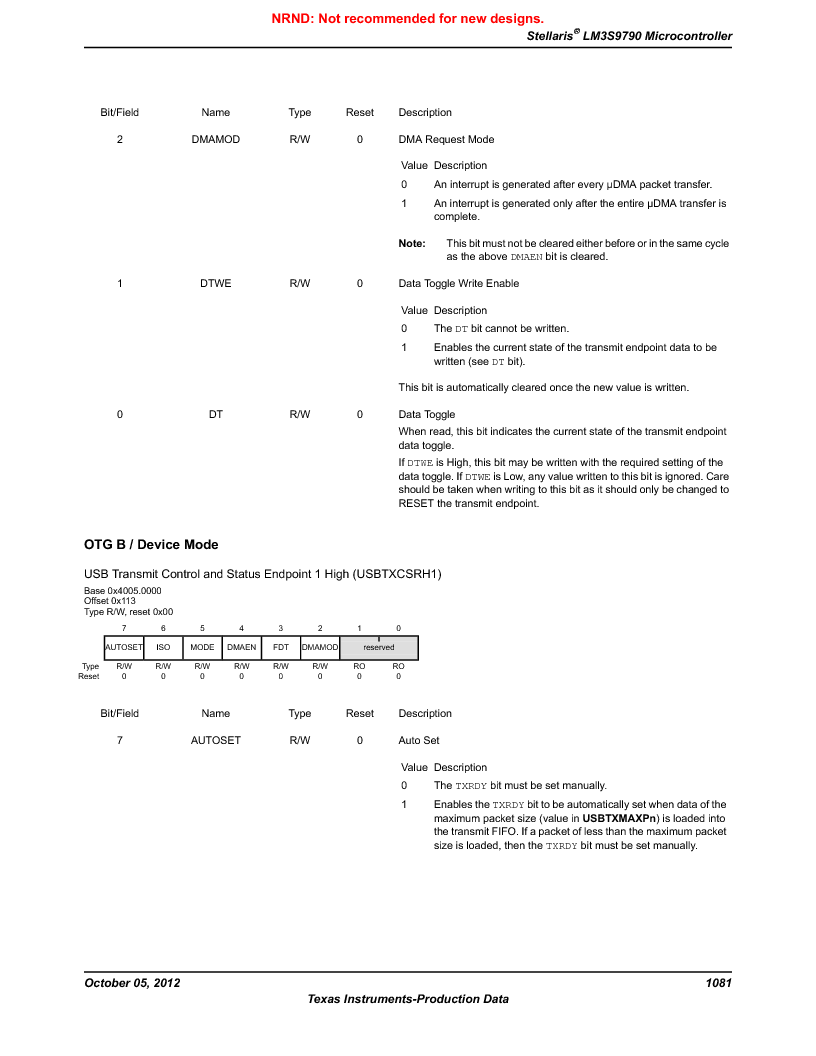 LM3S9790-IQC80-C5T ,Texas Instruments厂商,Stellaris LM3S Microcontroller 100-LQFP -40 to 85, LM3S9790-IQC80-C5T datasheet预览  第1081页