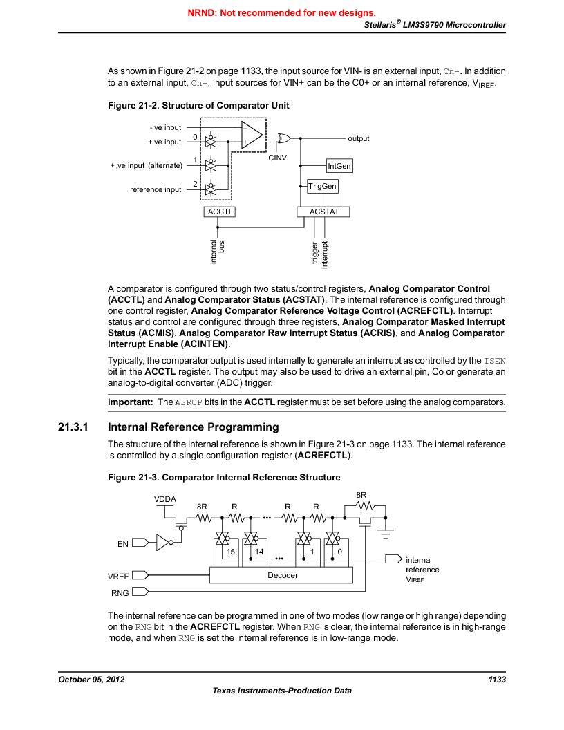 LM3S9790-IQC80-C5T ,Texas Instruments厂商,Stellaris LM3S Microcontroller 100-LQFP -40 to 85, LM3S9790-IQC80-C5T datasheet预览  第1133页