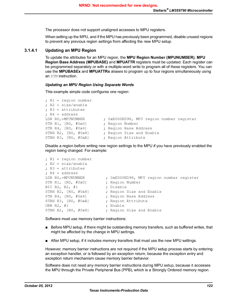LM3S9790-IQC80-C5T ,Texas Instruments厂商,Stellaris LM3S Microcontroller 100-LQFP -40 to 85, LM3S9790-IQC80-C5T datasheet预览  第123页