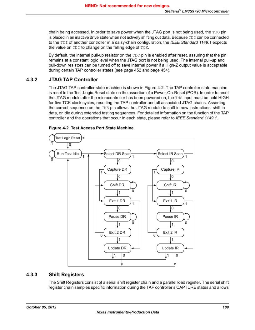 LM3S9790-IQC80-C5T ,Texas Instruments厂商,Stellaris LM3S Microcontroller 100-LQFP -40 to 85, LM3S9790-IQC80-C5T datasheet预览  第189页