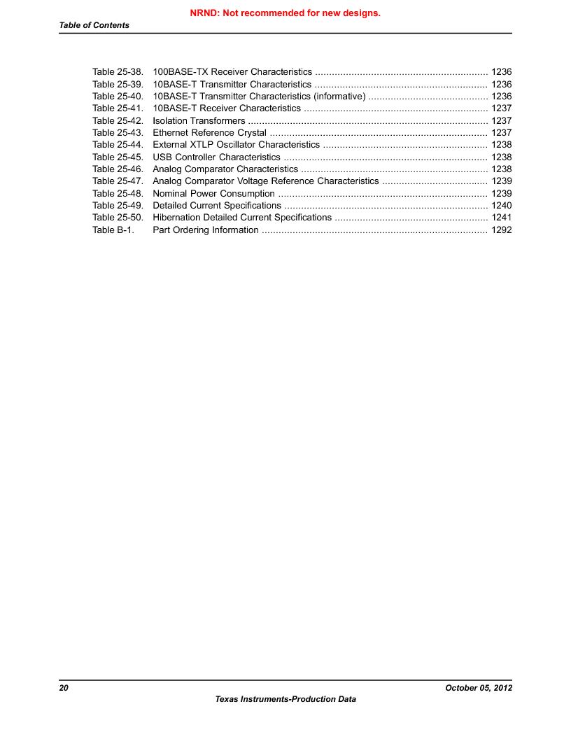 LM3S9790-IQC80-C5T ,Texas Instruments厂商,Stellaris LM3S Microcontroller 100-LQFP -40 to 85, LM3S9790-IQC80-C5T datasheet预览  第20页