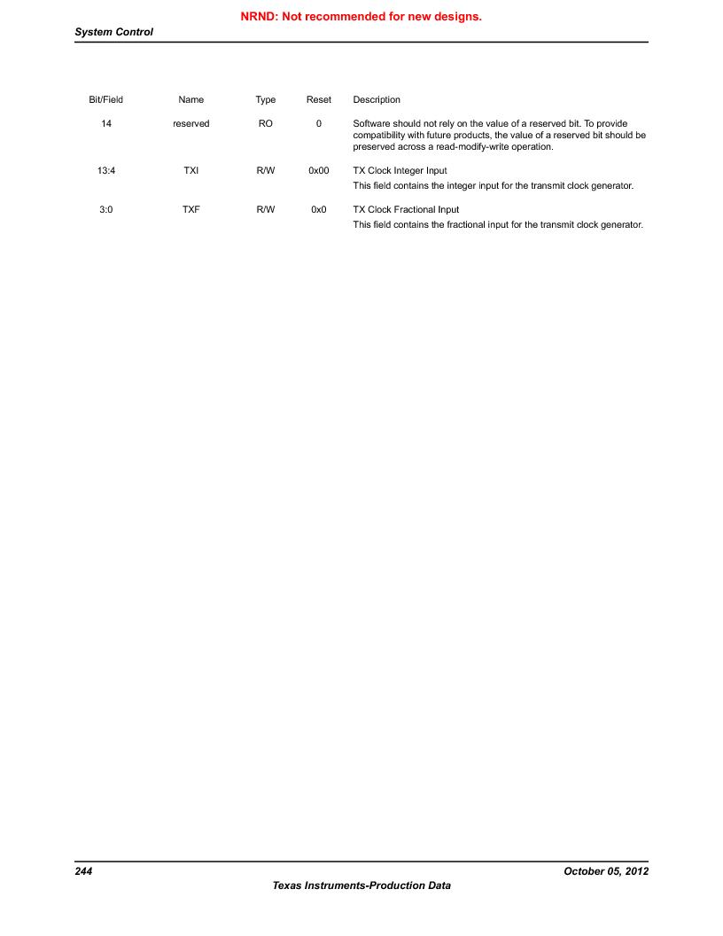 LM3S9790-IQC80-C5T ,Texas Instruments厂商,Stellaris LM3S Microcontroller 100-LQFP -40 to 85, LM3S9790-IQC80-C5T datasheet预览  第244页