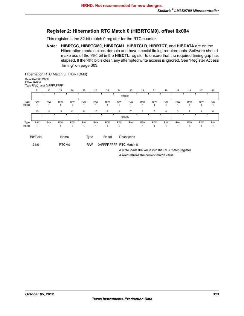 LM3S9790-IQC80-C5T ,Texas Instruments厂商,Stellaris LM3S Microcontroller 100-LQFP -40 to 85, LM3S9790-IQC80-C5T datasheet预览  第313页