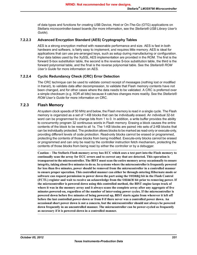 LM3S9790-IQC80-C5T ,Texas Instruments厂商,Stellaris LM3S Microcontroller 100-LQFP -40 to 85, LM3S9790-IQC80-C5T datasheet预览  第331页