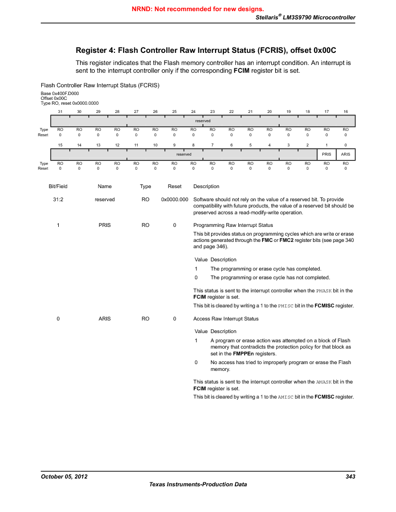 LM3S9790-IQC80-C5T ,Texas Instruments厂商,Stellaris LM3S Microcontroller 100-LQFP -40 to 85, LM3S9790-IQC80-C5T datasheet预览  第343页