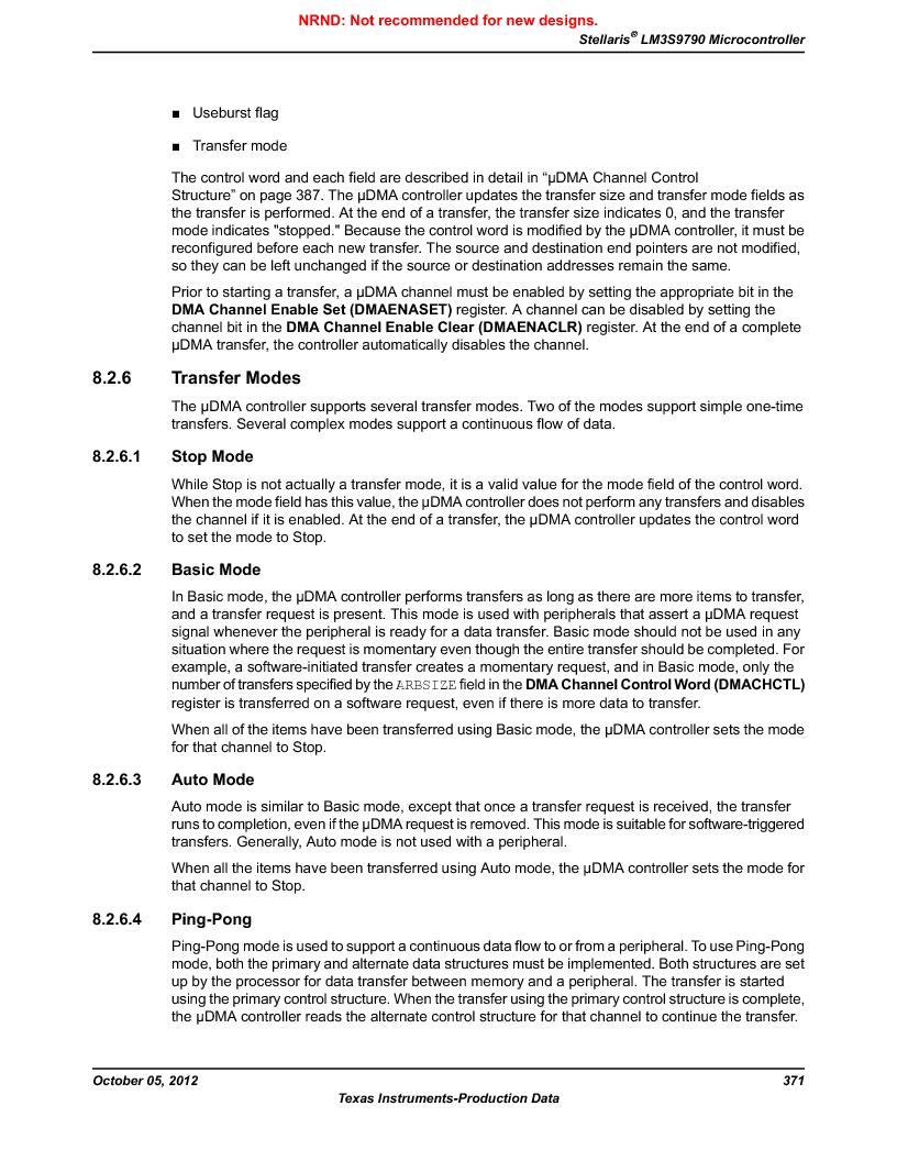 LM3S9790-IQC80-C5T ,Texas Instruments厂商,Stellaris LM3S Microcontroller 100-LQFP -40 to 85, LM3S9790-IQC80-C5T datasheet预览  第371页