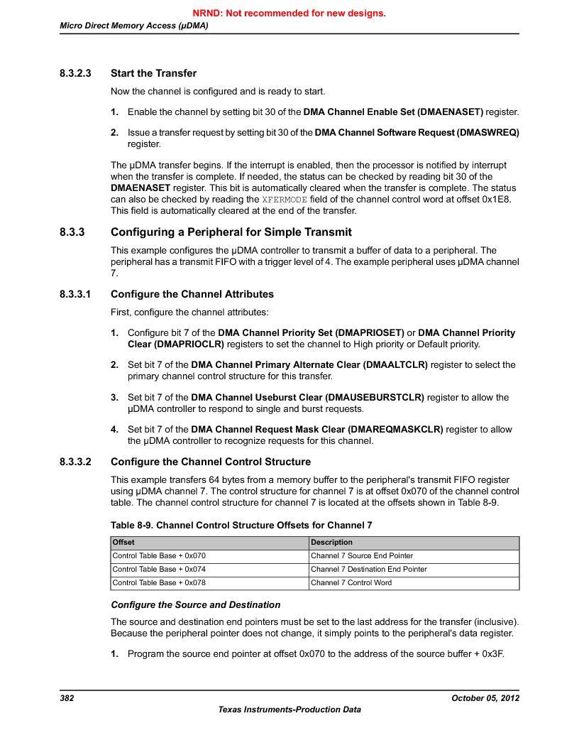 LM3S9790-IQC80-C5T ,Texas Instruments厂商,Stellaris LM3S Microcontroller 100-LQFP -40 to 85, LM3S9790-IQC80-C5T datasheet预览  第382页