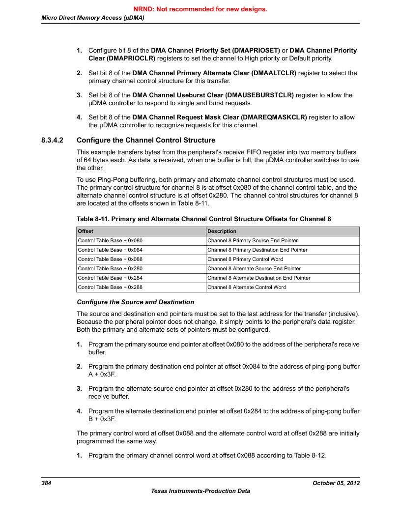 LM3S9790-IQC80-C5T ,Texas Instruments厂商,Stellaris LM3S Microcontroller 100-LQFP -40 to 85, LM3S9790-IQC80-C5T datasheet预览  第384页
