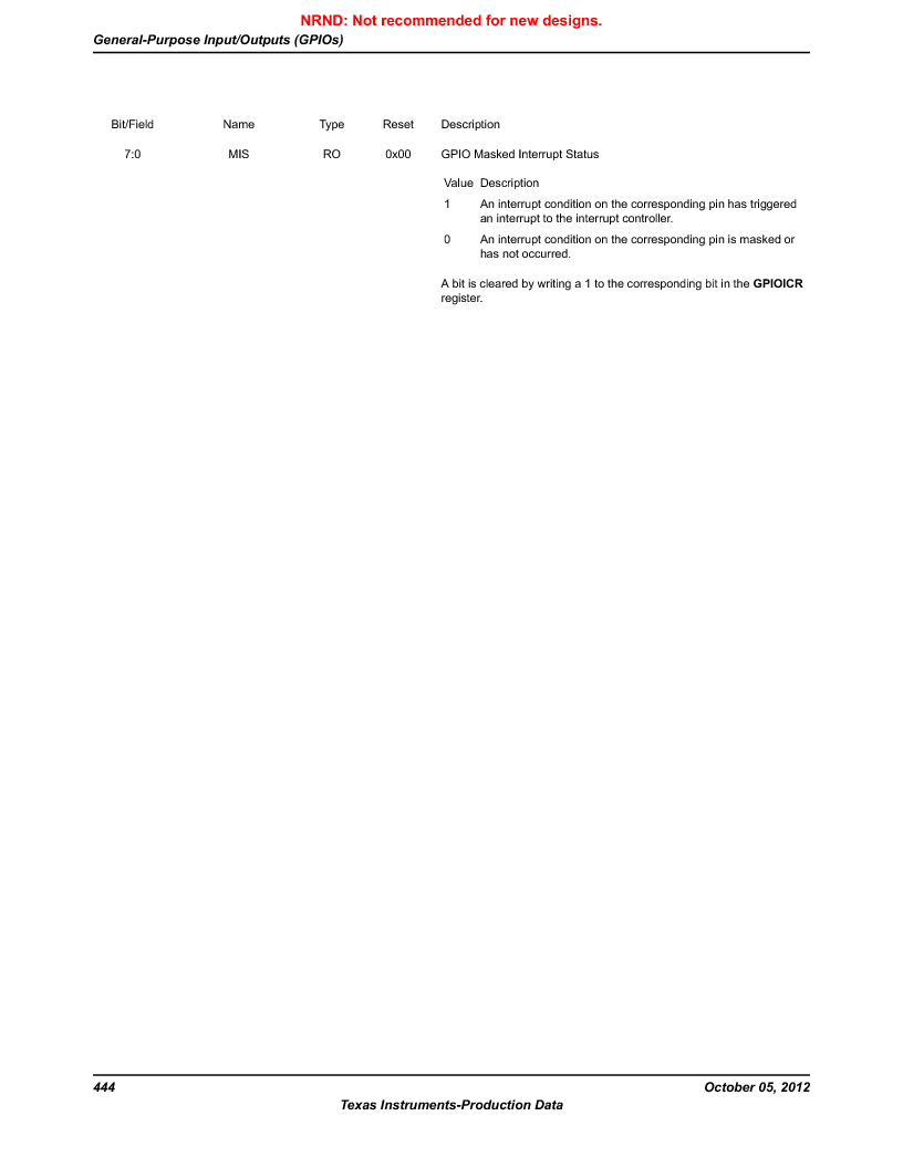 LM3S9790-IQC80-C5T ,Texas Instruments厂商,Stellaris LM3S Microcontroller 100-LQFP -40 to 85, LM3S9790-IQC80-C5T datasheet预览  第444页