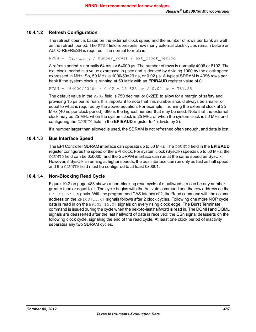 LM3S9790-IQC80-C5T ,Texas Instruments厂商,Stellaris LM3S Microcontroller 100-LQFP -40 to 85, LM3S9790-IQC80-C5T datasheet预览  第487页