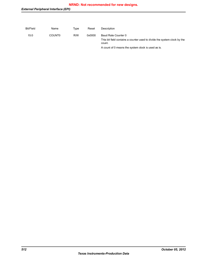 LM3S9790-IQC80-C5T ,Texas Instruments厂商,Stellaris LM3S Microcontroller 100-LQFP -40 to 85, LM3S9790-IQC80-C5T datasheet预览  第512页