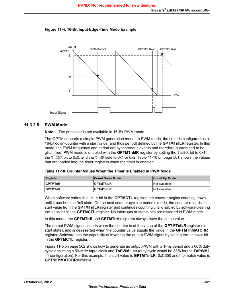 LM3S9790-IQC80-C5T ,Texas Instruments厂商,Stellaris LM3S Microcontroller 100-LQFP -40 to 85, LM3S9790-IQC80-C5T datasheet预览  第561页