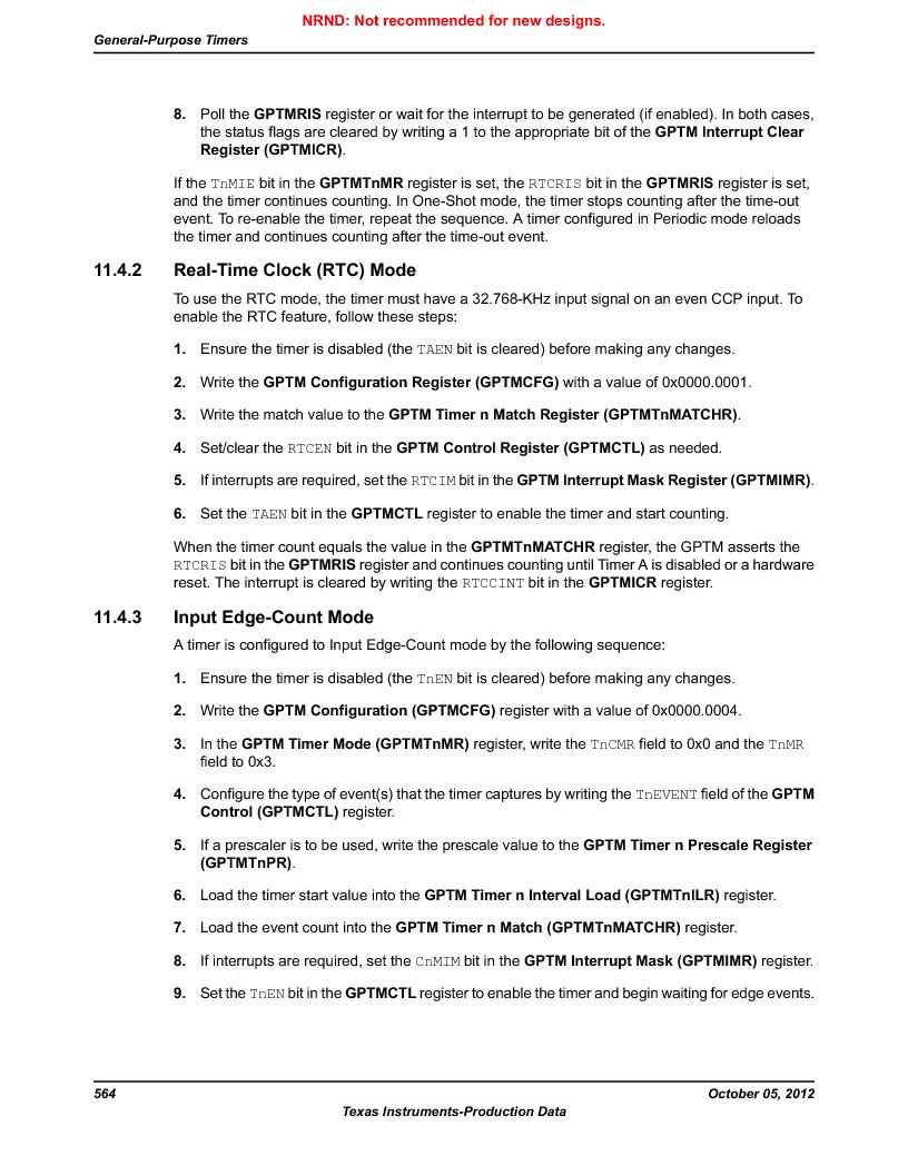 LM3S9790-IQC80-C5T ,Texas Instruments厂商,Stellaris LM3S Microcontroller 100-LQFP -40 to 85, LM3S9790-IQC80-C5T datasheet预览  第564页