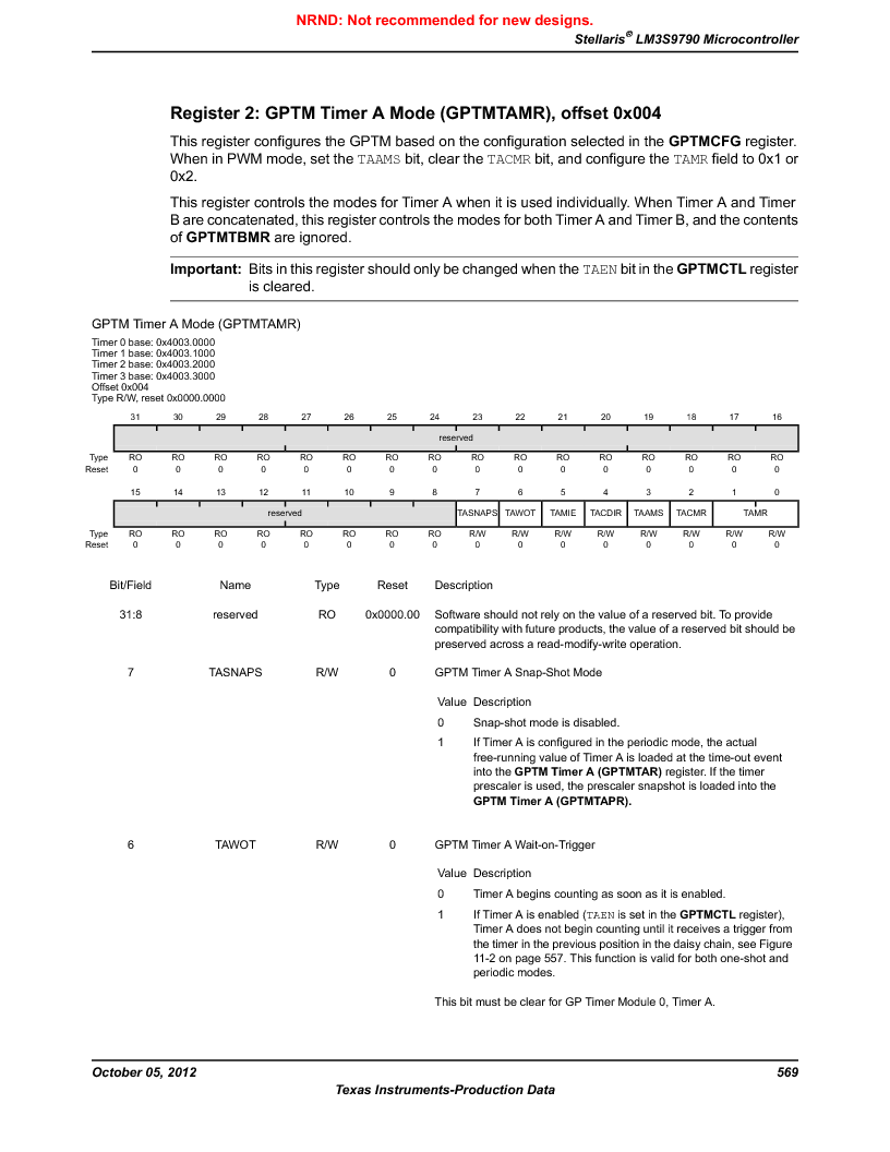 LM3S9790-IQC80-C5T ,Texas Instruments厂商,Stellaris LM3S Microcontroller 100-LQFP -40 to 85, LM3S9790-IQC80-C5T datasheet预览  第569页