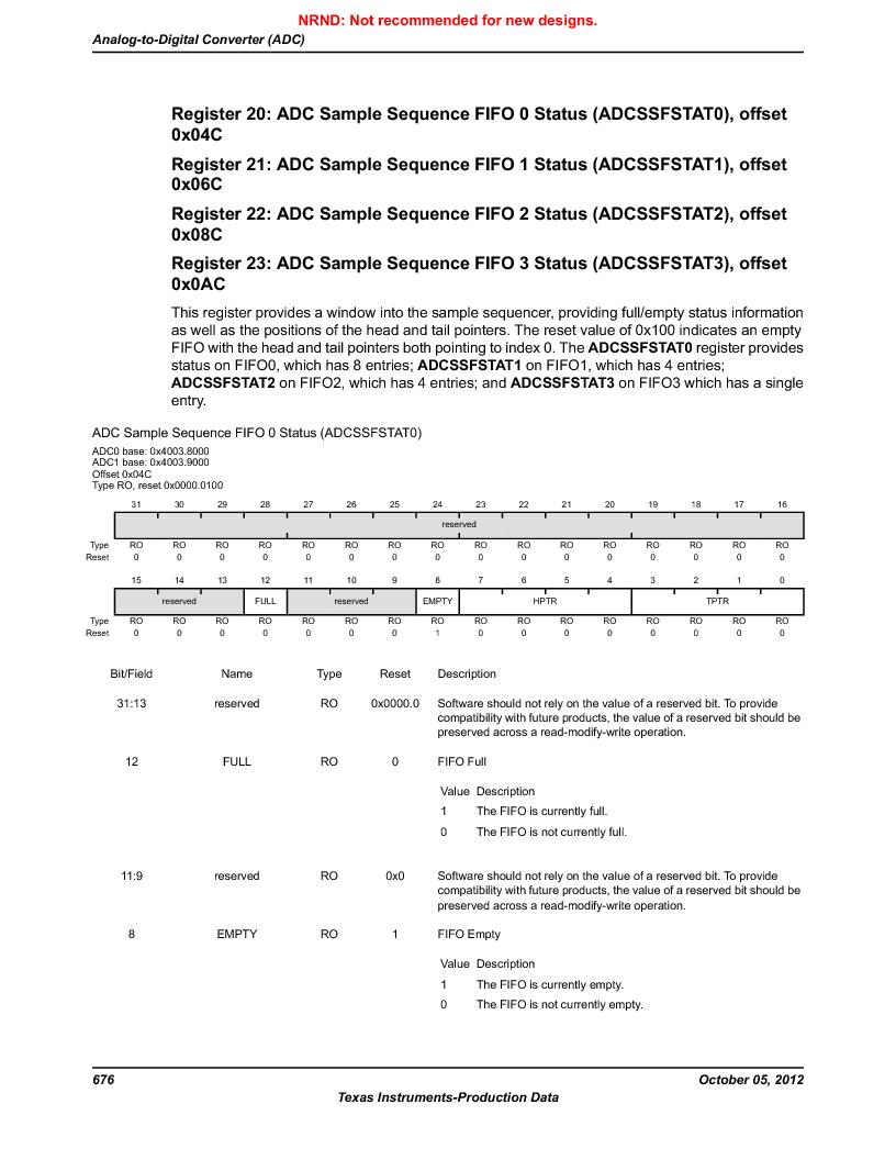 LM3S9790-IQC80-C5T ,Texas Instruments厂商,Stellaris LM3S Microcontroller 100-LQFP -40 to 85, LM3S9790-IQC80-C5T datasheet预览  第676页