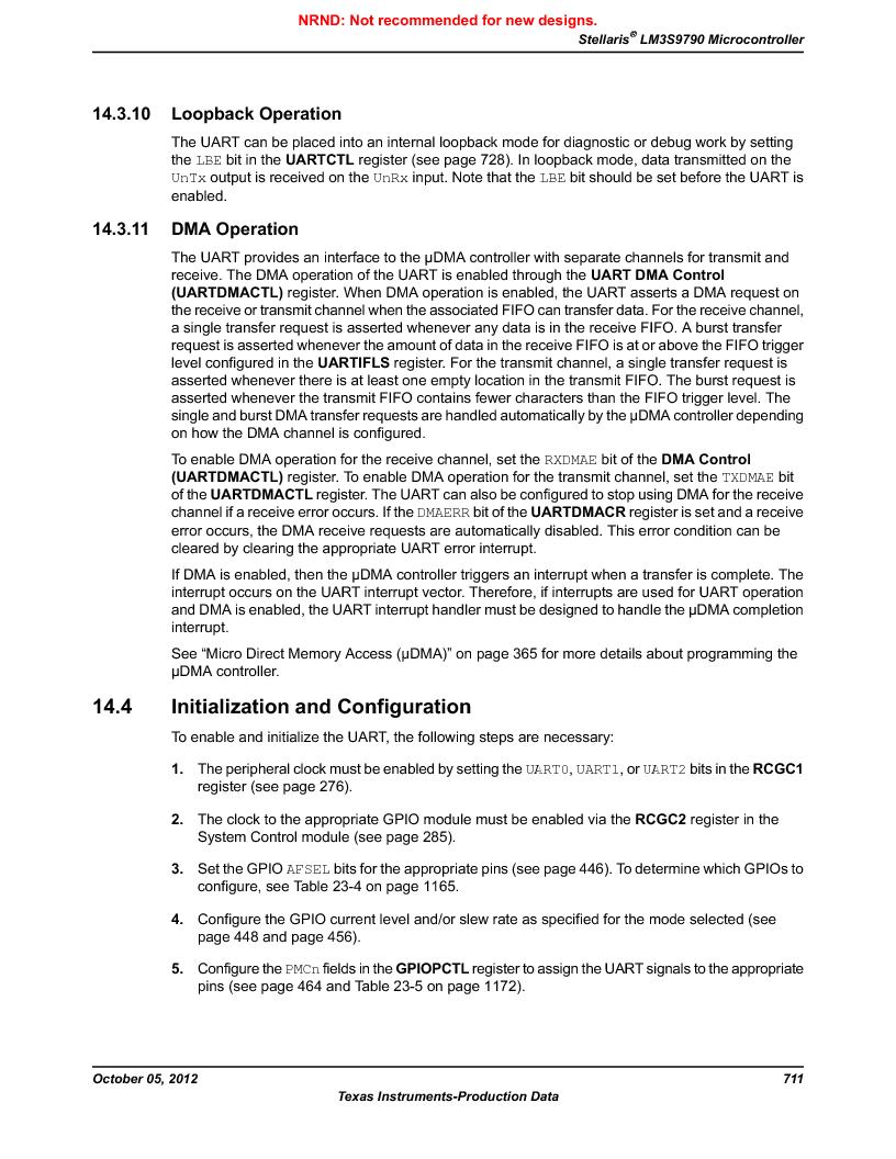 LM3S9790-IQC80-C5T ,Texas Instruments厂商,Stellaris LM3S Microcontroller 100-LQFP -40 to 85, LM3S9790-IQC80-C5T datasheet预览  第711页