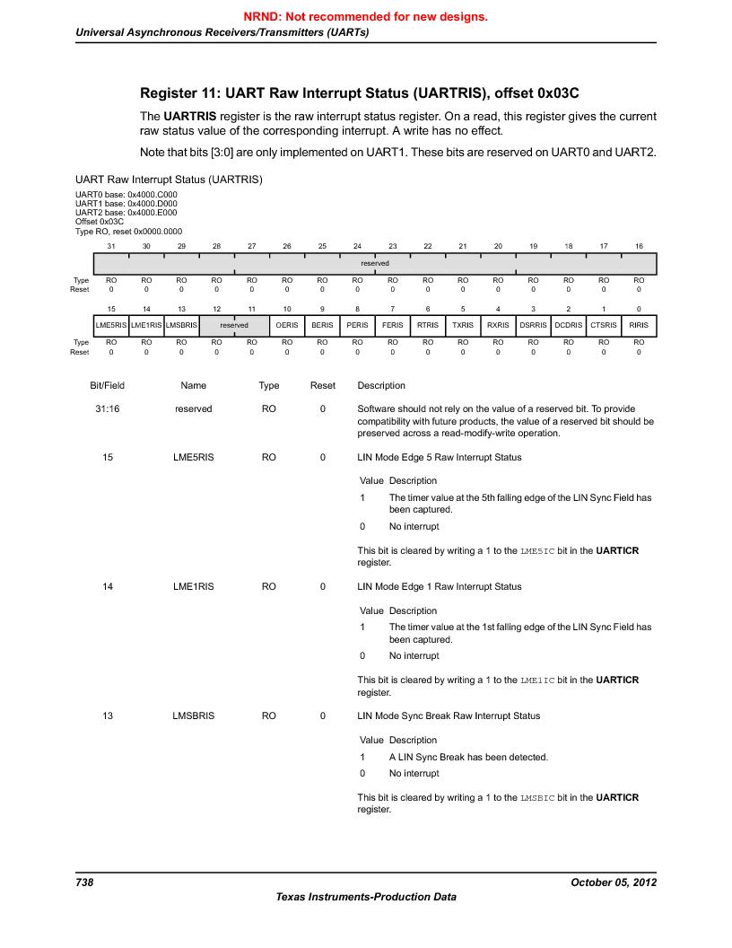 LM3S9790-IQC80-C5T ,Texas Instruments厂商,Stellaris LM3S Microcontroller 100-LQFP -40 to 85, LM3S9790-IQC80-C5T datasheet预览  第738页