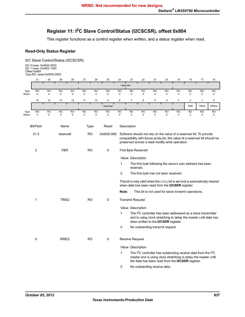 LM3S9790-IQC80-C5T ,Texas Instruments厂商,Stellaris LM3S Microcontroller 100-LQFP -40 to 85, LM3S9790-IQC80-C5T datasheet预览  第837页