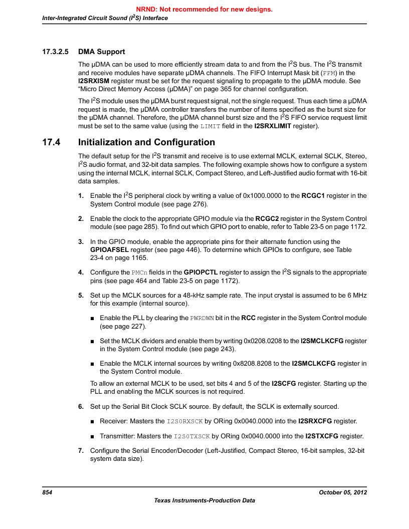 LM3S9790-IQC80-C5T ,Texas Instruments厂商,Stellaris LM3S Microcontroller 100-LQFP -40 to 85, LM3S9790-IQC80-C5T datasheet预览  第854页