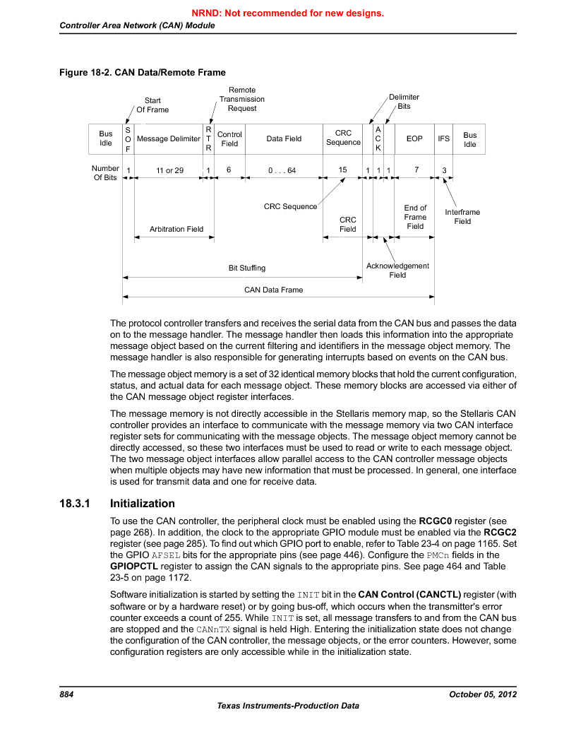 LM3S9790-IQC80-C5T ,Texas Instruments厂商,Stellaris LM3S Microcontroller 100-LQFP -40 to 85, LM3S9790-IQC80-C5T datasheet预览  第884页