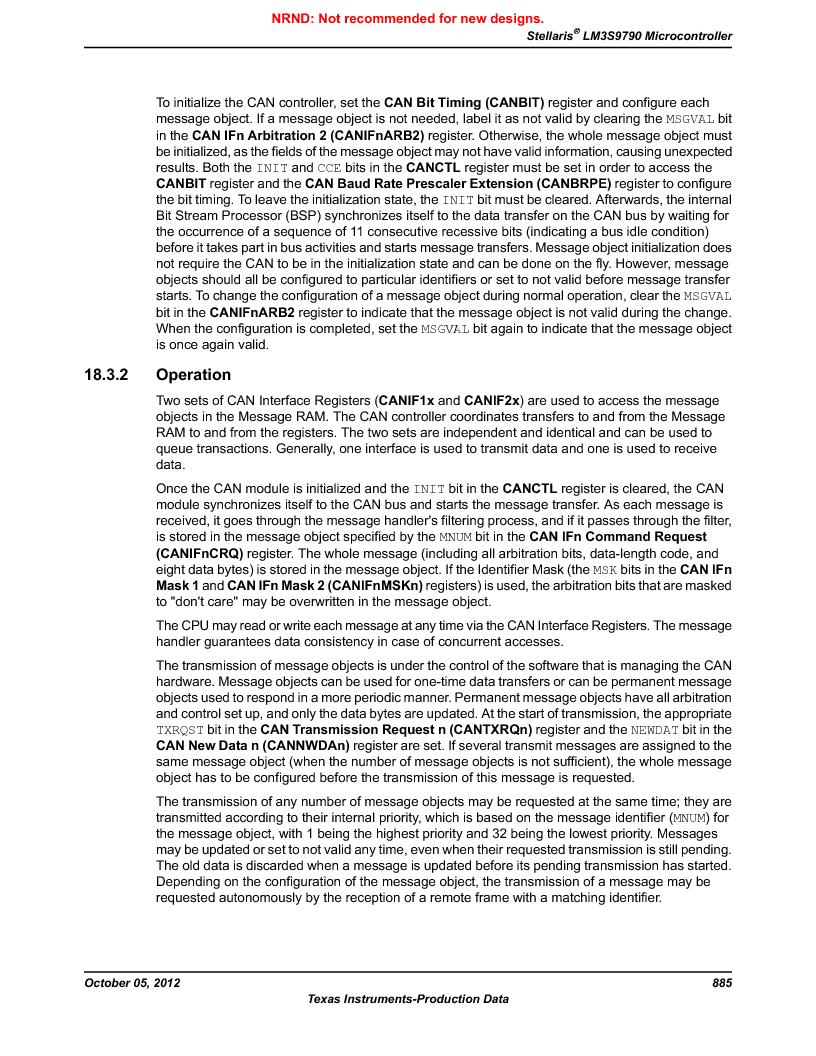 LM3S9790-IQC80-C5T ,Texas Instruments厂商,Stellaris LM3S Microcontroller 100-LQFP -40 to 85, LM3S9790-IQC80-C5T datasheet预览  第885页