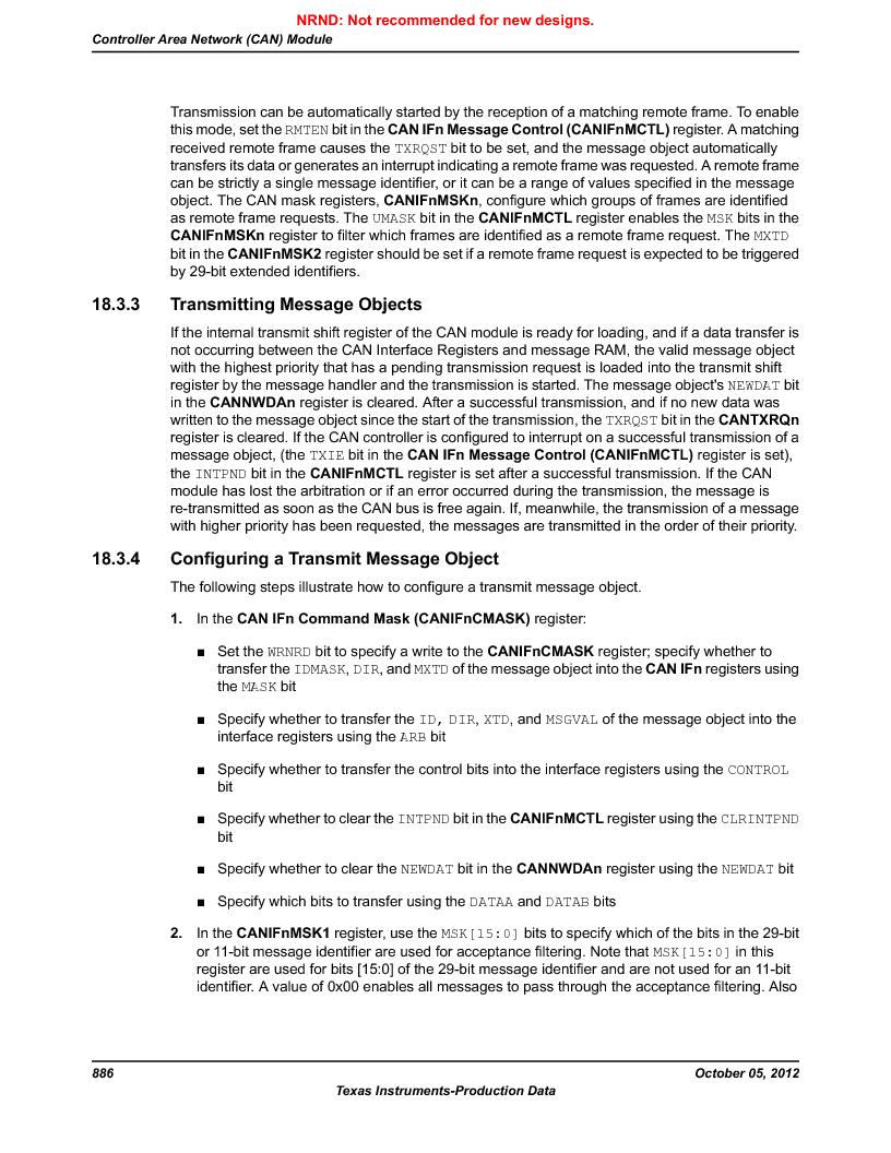 LM3S9790-IQC80-C5T ,Texas Instruments厂商,Stellaris LM3S Microcontroller 100-LQFP -40 to 85, LM3S9790-IQC80-C5T datasheet预览  第886页