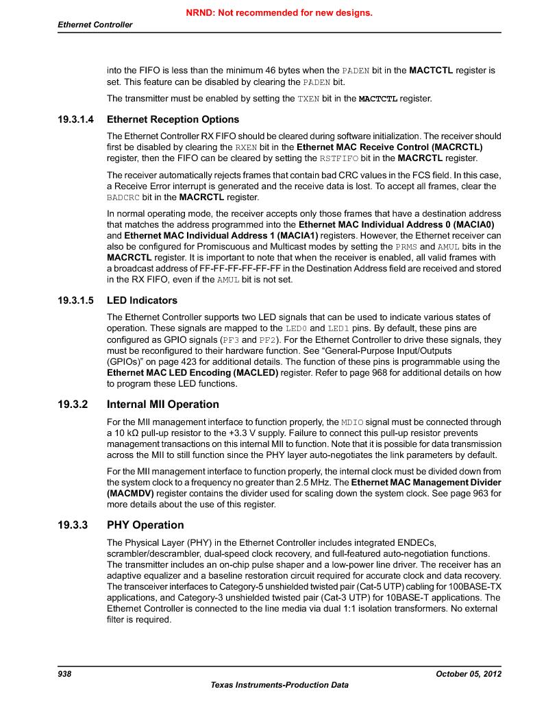 LM3S9790-IQC80-C5T ,Texas Instruments厂商,Stellaris LM3S Microcontroller 100-LQFP -40 to 85, LM3S9790-IQC80-C5T datasheet预览  第938页
