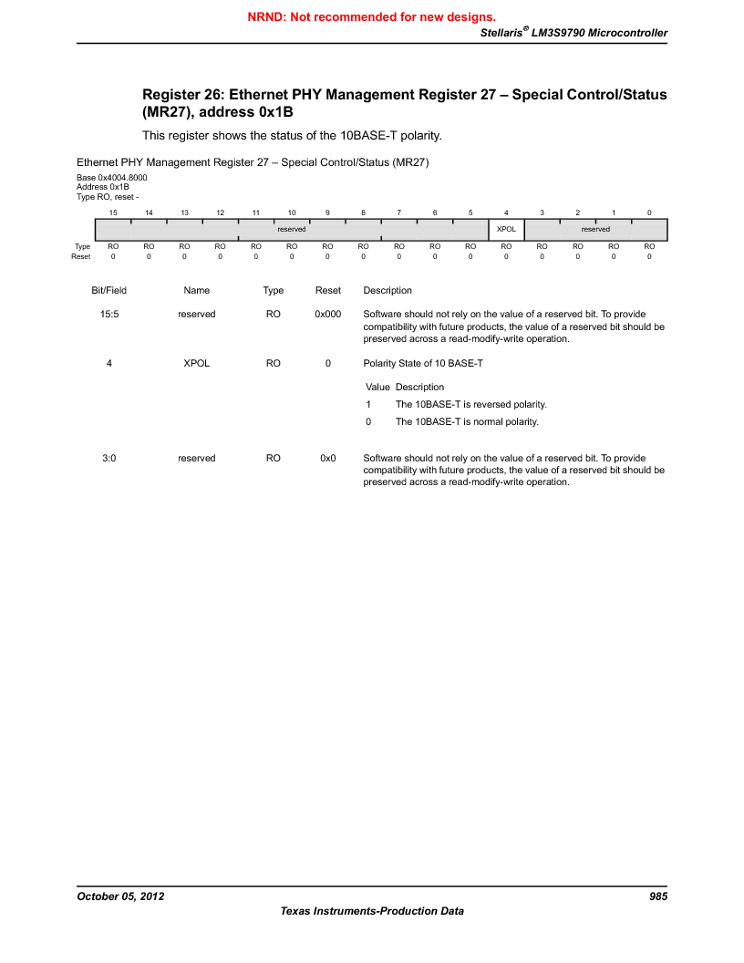 LM3S9790-IQC80-C5T ,Texas Instruments厂商,Stellaris LM3S Microcontroller 100-LQFP -40 to 85, LM3S9790-IQC80-C5T datasheet预览  第985页