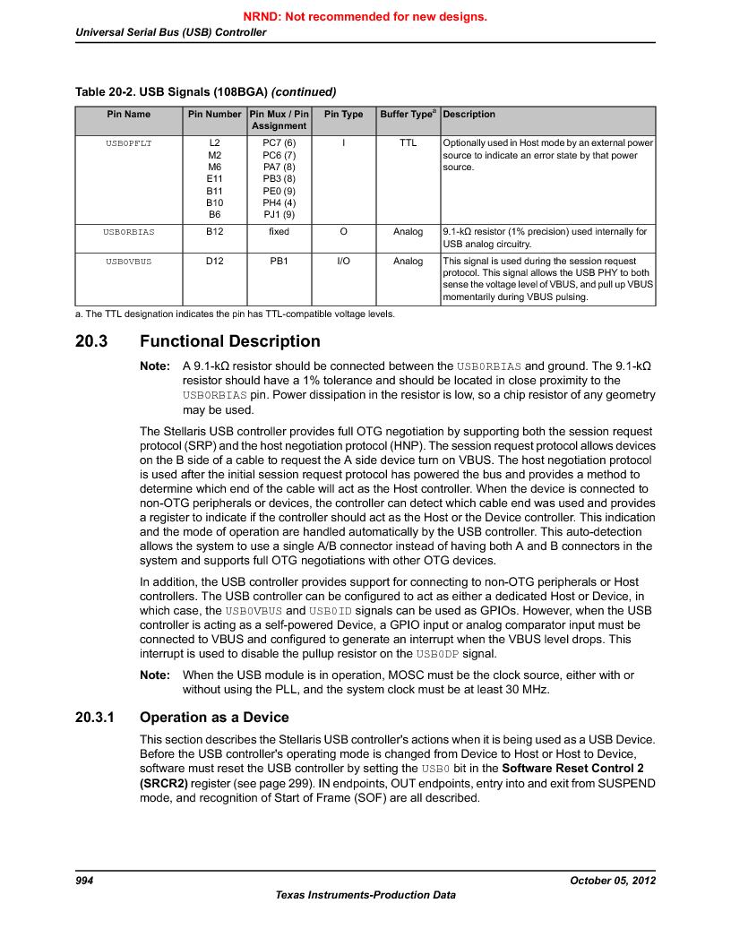 LM3S9790-IQC80-C5T ,Texas Instruments厂商,Stellaris LM3S Microcontroller 100-LQFP -40 to 85, LM3S9790-IQC80-C5T datasheet预览  第994页