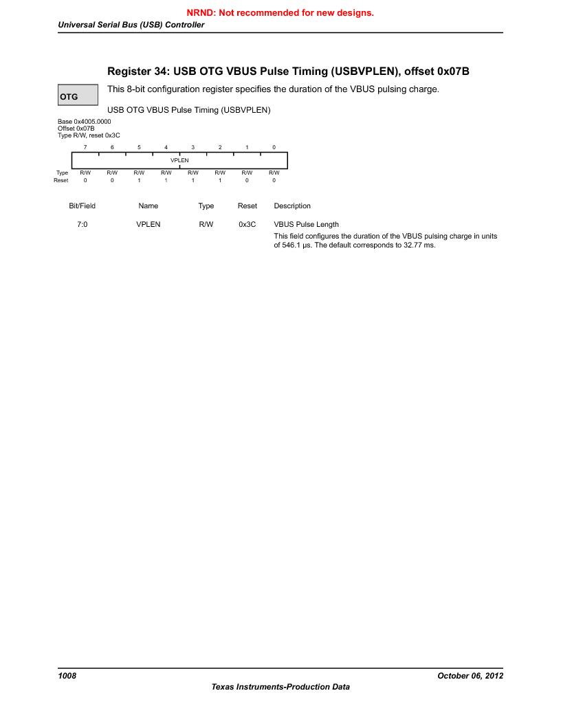 LM3S9BN6-IBZ80-C5 ,Texas Instruments厂商,Stellaris LM3S Microcontroller 108-NFBGA -40 to 85, LM3S9BN6-IBZ80-C5 datasheet预览  第1008页