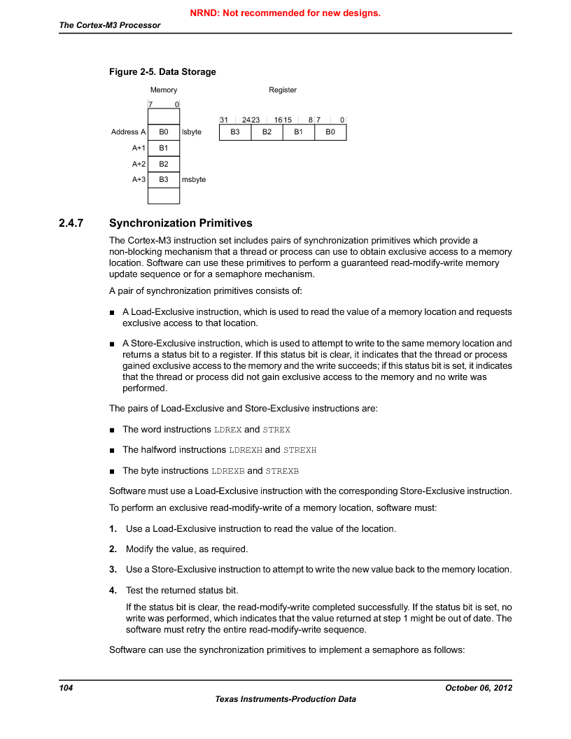 LM3S9BN6-IBZ80-C5 ,Texas Instruments厂商,Stellaris LM3S Microcontroller 108-NFBGA -40 to 85, LM3S9BN6-IBZ80-C5 datasheet预览  第104页