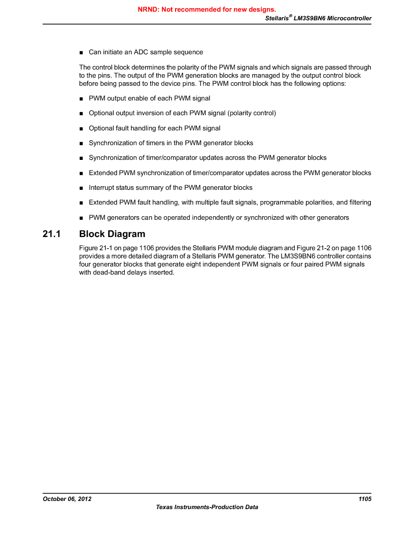 LM3S9BN6-IBZ80-C5 ,Texas Instruments厂商,Stellaris LM3S Microcontroller 108-NFBGA -40 to 85, LM3S9BN6-IBZ80-C5 datasheet预览  第1105页