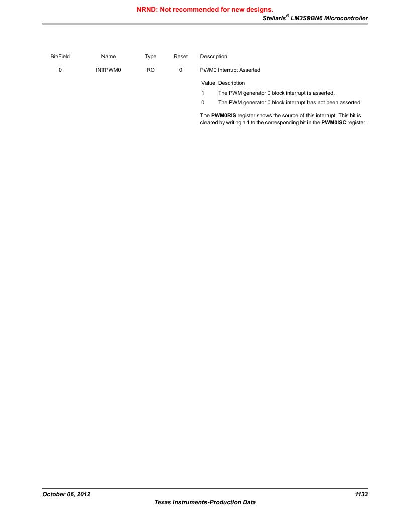 LM3S9BN6-IBZ80-C5 ,Texas Instruments厂商,Stellaris LM3S Microcontroller 108-NFBGA -40 to 85, LM3S9BN6-IBZ80-C5 datasheet预览  第1133页