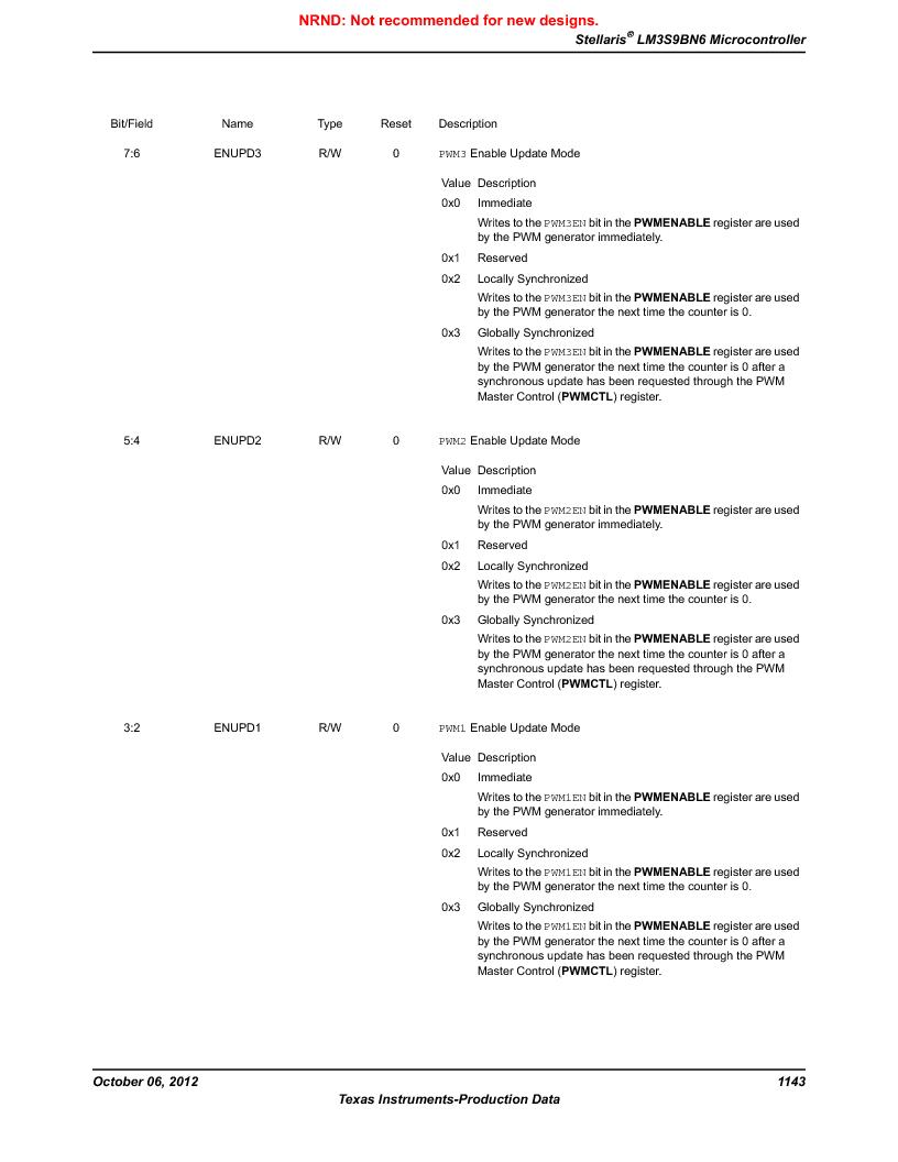 LM3S9BN6-IBZ80-C5 ,Texas Instruments厂商,Stellaris LM3S Microcontroller 108-NFBGA -40 to 85, LM3S9BN6-IBZ80-C5 datasheet预览  第1143页