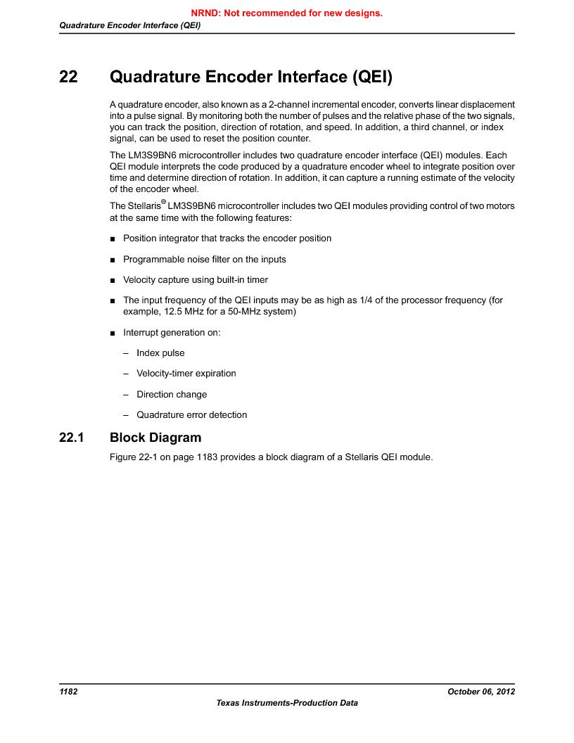 LM3S9BN6-IBZ80-C5 ,Texas Instruments厂商,Stellaris LM3S Microcontroller 108-NFBGA -40 to 85, LM3S9BN6-IBZ80-C5 datasheet预览  第1182页