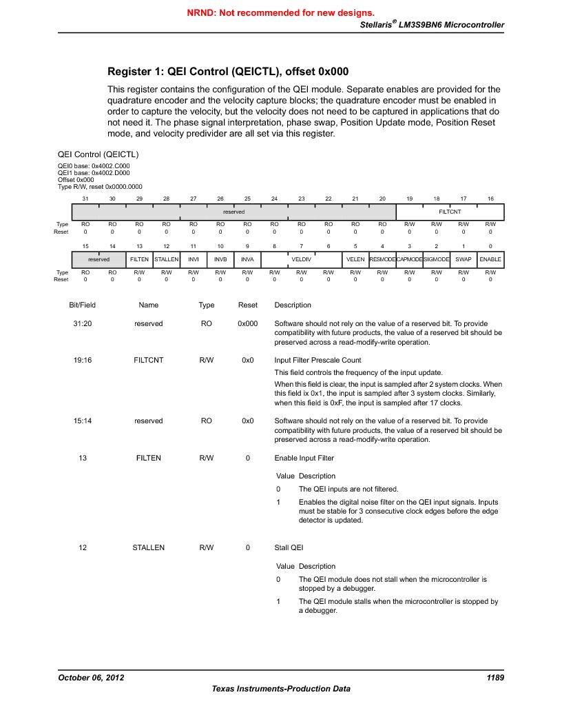 LM3S9BN6-IBZ80-C5 ,Texas Instruments厂商,Stellaris LM3S Microcontroller 108-NFBGA -40 to 85, LM3S9BN6-IBZ80-C5 datasheet预览  第1189页