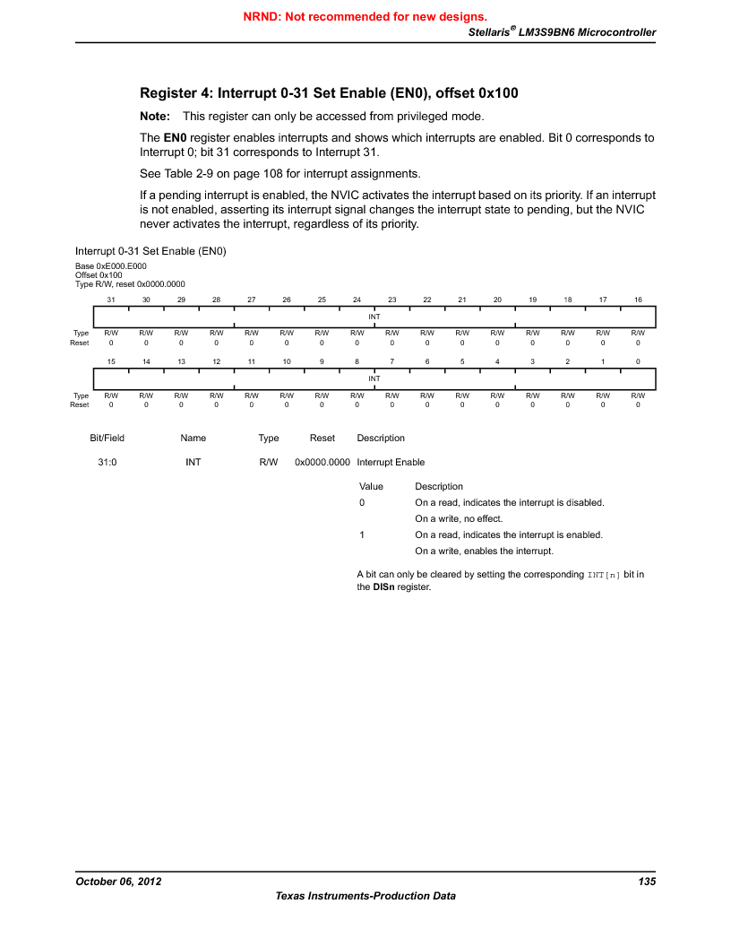 LM3S9BN6-IBZ80-C5 ,Texas Instruments厂商,Stellaris LM3S Microcontroller 108-NFBGA -40 to 85, LM3S9BN6-IBZ80-C5 datasheet预览  第135页