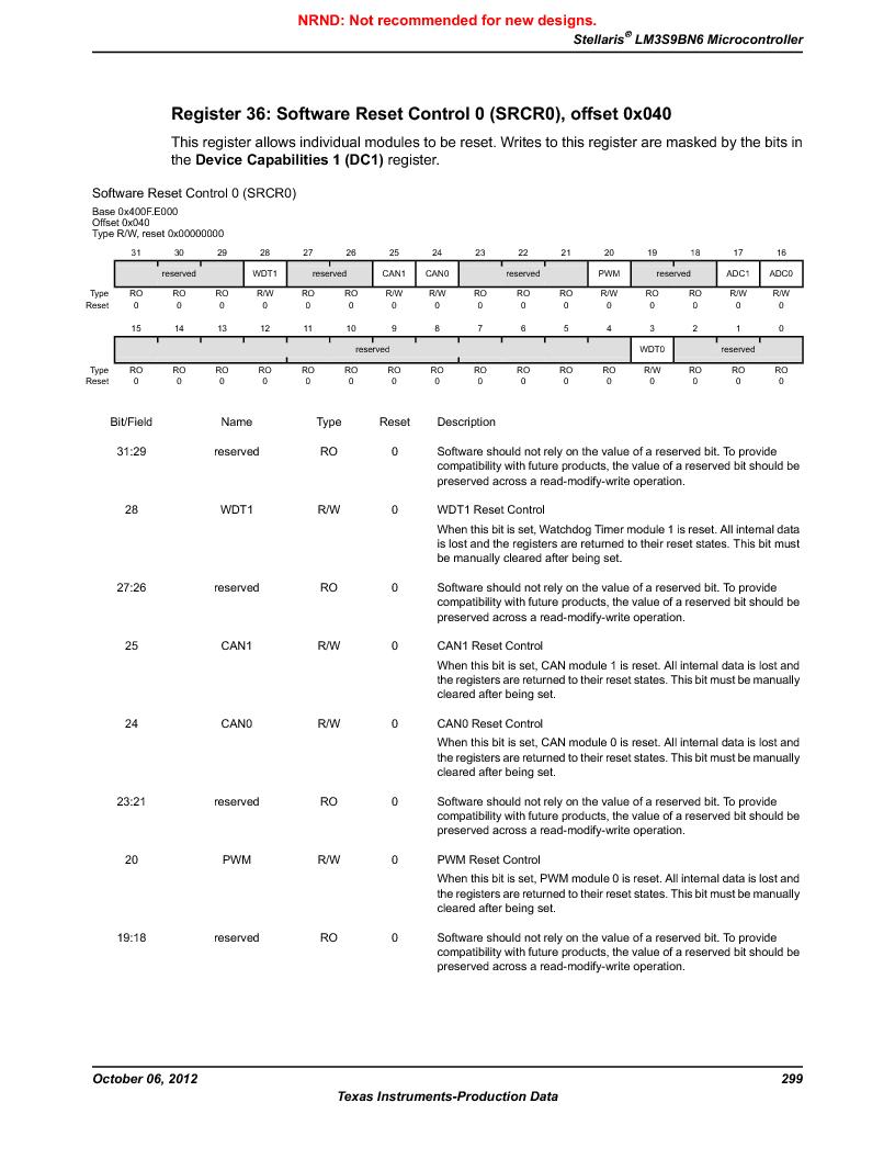 LM3S9BN6-IBZ80-C5 ,Texas Instruments厂商,Stellaris LM3S Microcontroller 108-NFBGA -40 to 85, LM3S9BN6-IBZ80-C5 datasheet预览  第299页