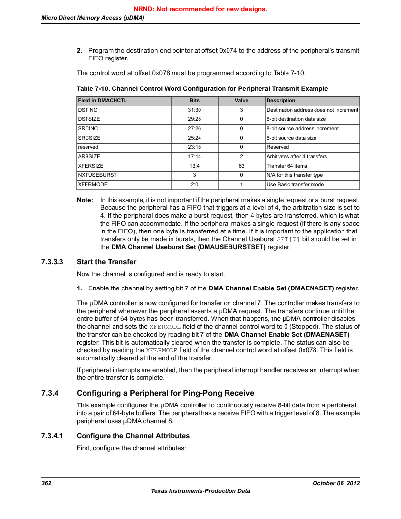 LM3S9BN6-IBZ80-C5 ,Texas Instruments厂商,Stellaris LM3S Microcontroller 108-NFBGA -40 to 85, LM3S9BN6-IBZ80-C5 datasheet预览  第362页