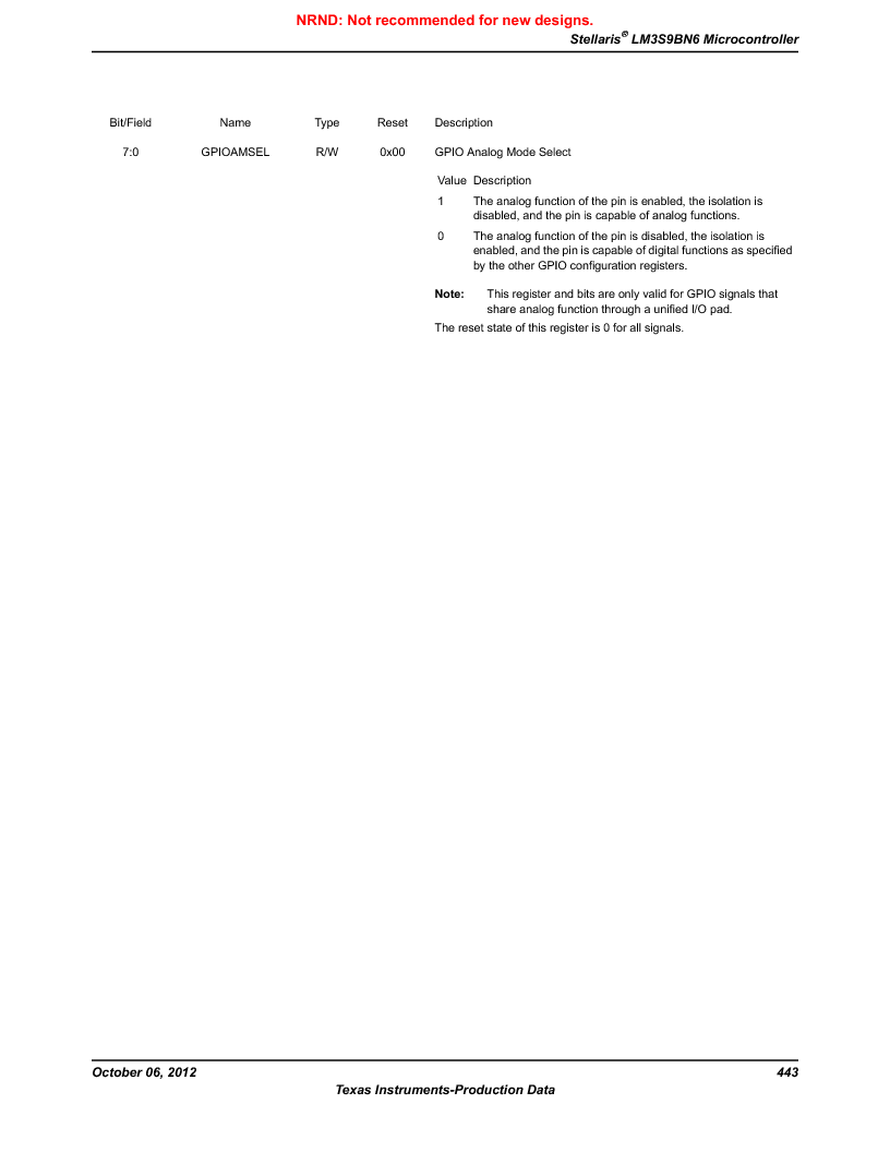 LM3S9BN6-IBZ80-C5 ,Texas Instruments厂商,Stellaris LM3S Microcontroller 108-NFBGA -40 to 85, LM3S9BN6-IBZ80-C5 datasheet预览  第443页