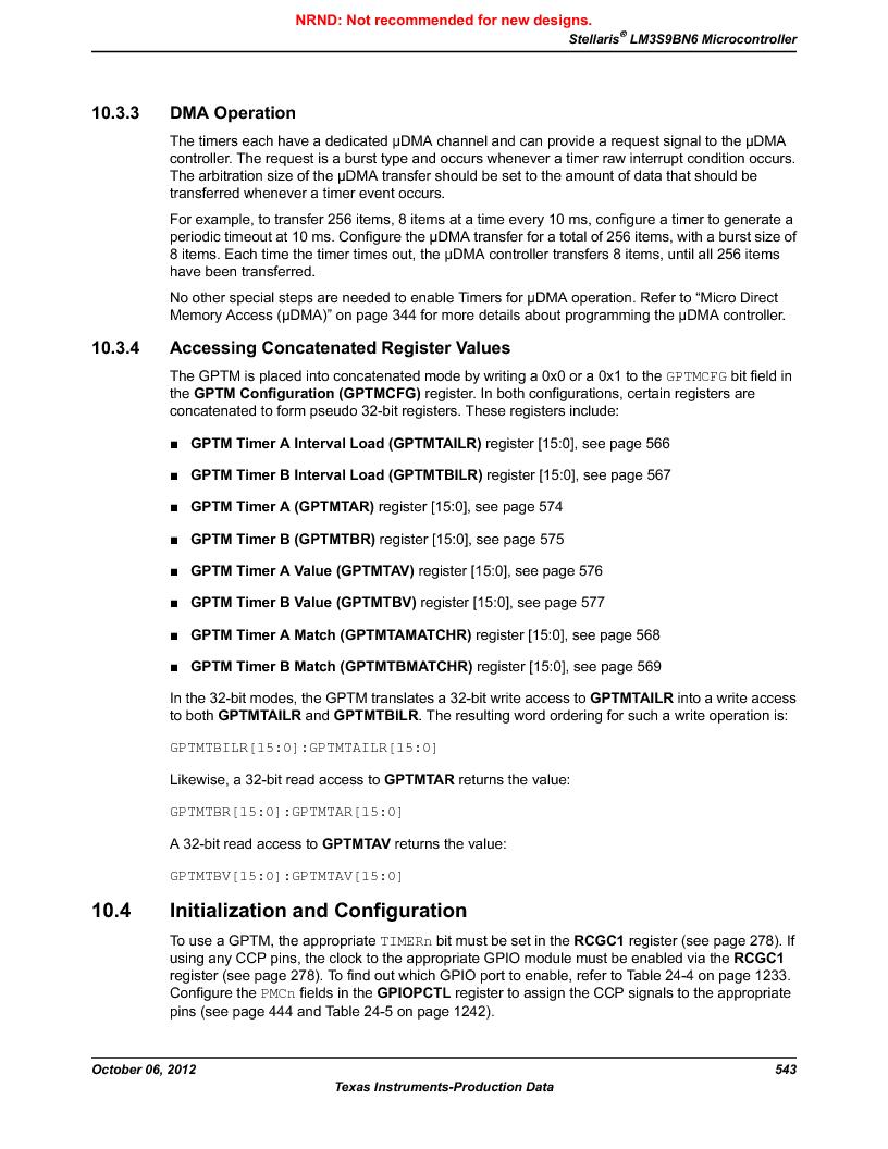 LM3S9BN6-IBZ80-C5 ,Texas Instruments厂商,Stellaris LM3S Microcontroller 108-NFBGA -40 to 85, LM3S9BN6-IBZ80-C5 datasheet预览  第543页