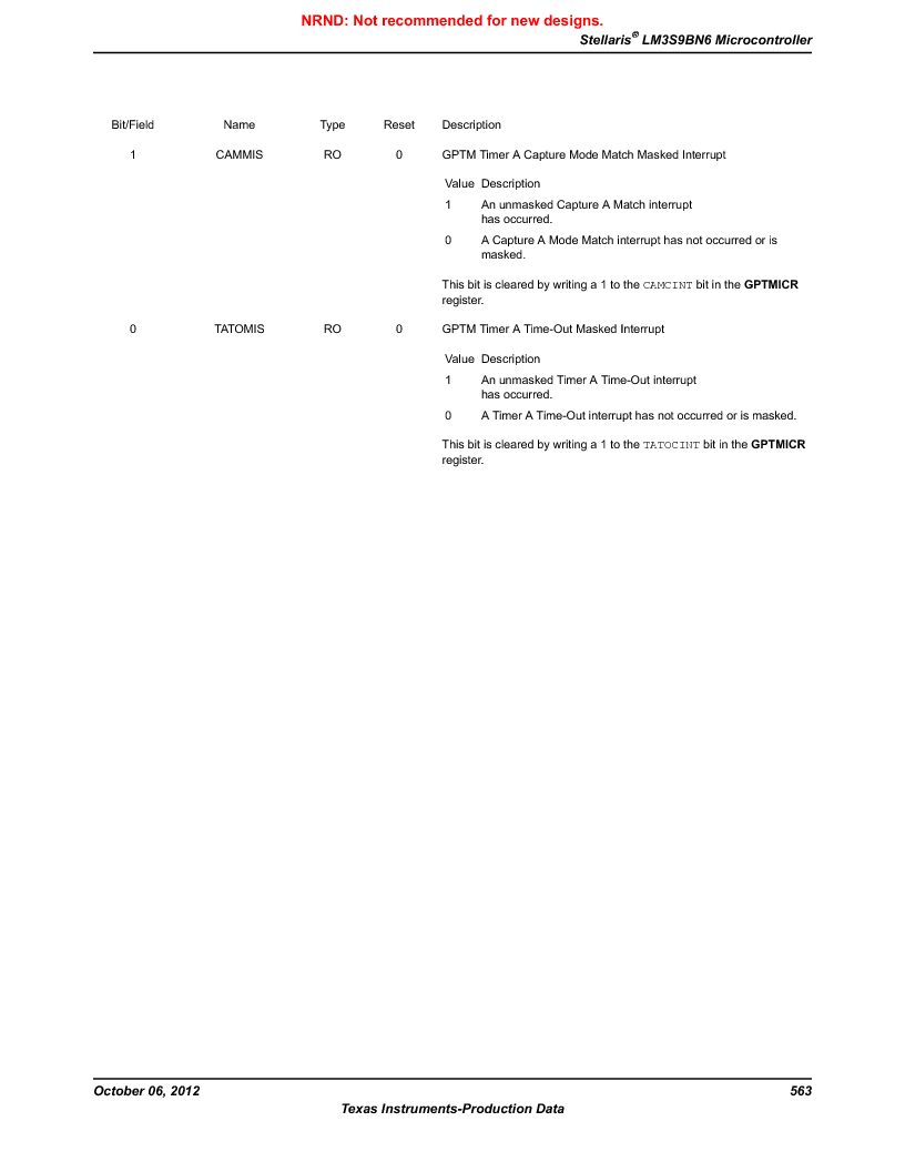 LM3S9BN6-IBZ80-C5 ,Texas Instruments厂商,Stellaris LM3S Microcontroller 108-NFBGA -40 to 85, LM3S9BN6-IBZ80-C5 datasheet预览  第563页