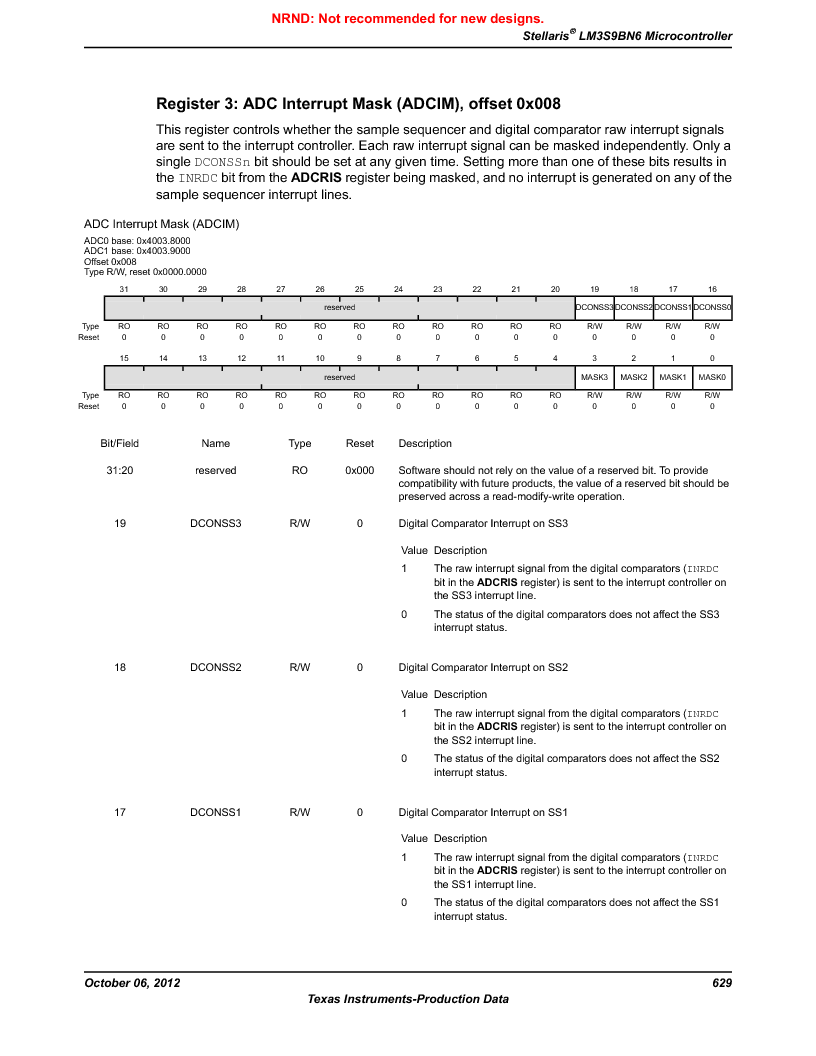 LM3S9BN6-IBZ80-C5 ,Texas Instruments厂商,Stellaris LM3S Microcontroller 108-NFBGA -40 to 85, LM3S9BN6-IBZ80-C5 datasheet预览  第629页