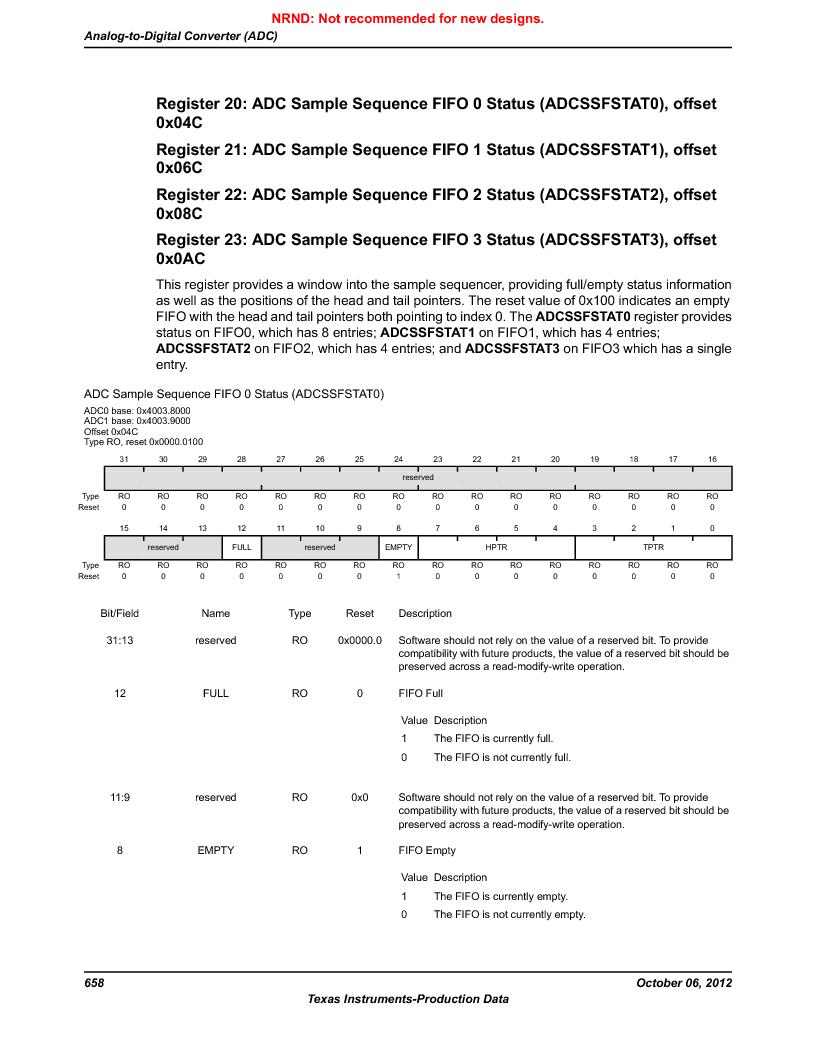 LM3S9BN6-IBZ80-C5 ,Texas Instruments厂商,Stellaris LM3S Microcontroller 108-NFBGA -40 to 85, LM3S9BN6-IBZ80-C5 datasheet预览  第658页