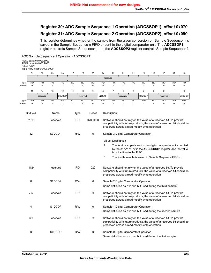 LM3S9BN6-IBZ80-C5 ,Texas Instruments厂商,Stellaris LM3S Microcontroller 108-NFBGA -40 to 85, LM3S9BN6-IBZ80-C5 datasheet预览  第667页