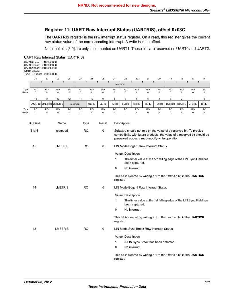 LM3S9BN6-IBZ80-C5 ,Texas Instruments厂商,Stellaris LM3S Microcontroller 108-NFBGA -40 to 85, LM3S9BN6-IBZ80-C5 datasheet预览  第721页
