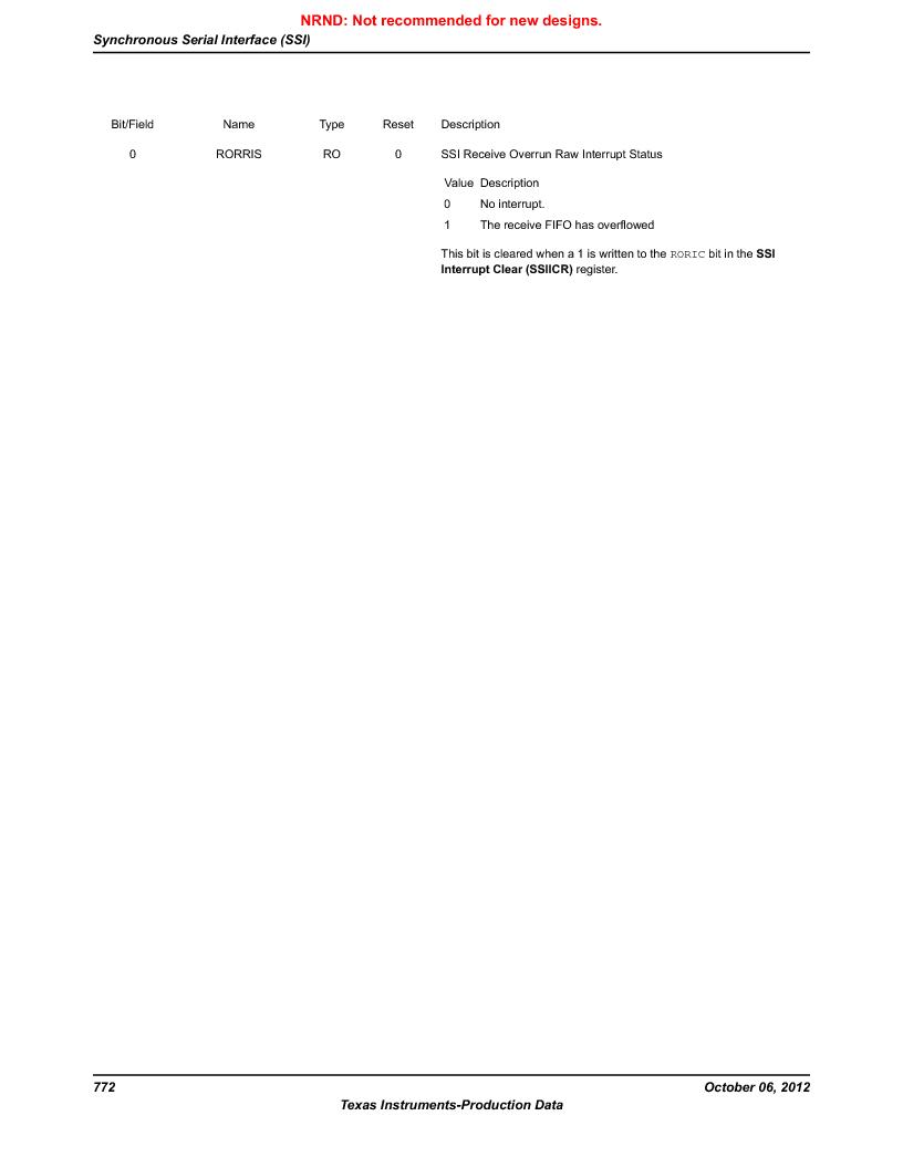 LM3S9BN6-IBZ80-C5 ,Texas Instruments厂商,Stellaris LM3S Microcontroller 108-NFBGA -40 to 85, LM3S9BN6-IBZ80-C5 datasheet预览  第772页
