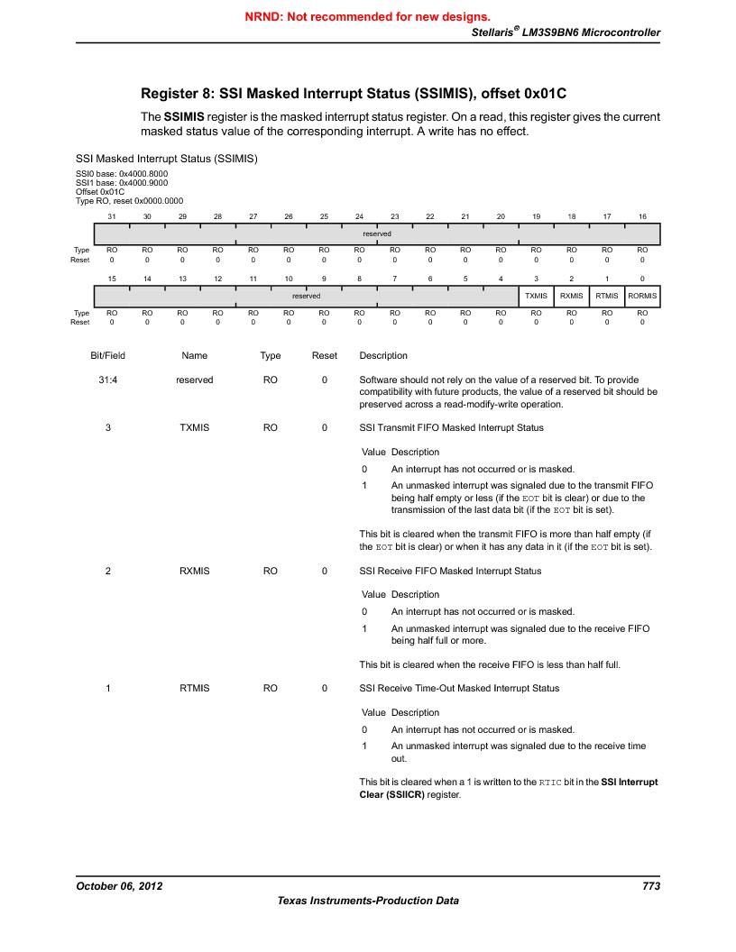 LM3S9BN6-IBZ80-C5 ,Texas Instruments厂商,Stellaris LM3S Microcontroller 108-NFBGA -40 to 85, LM3S9BN6-IBZ80-C5 datasheet预览  第773页
