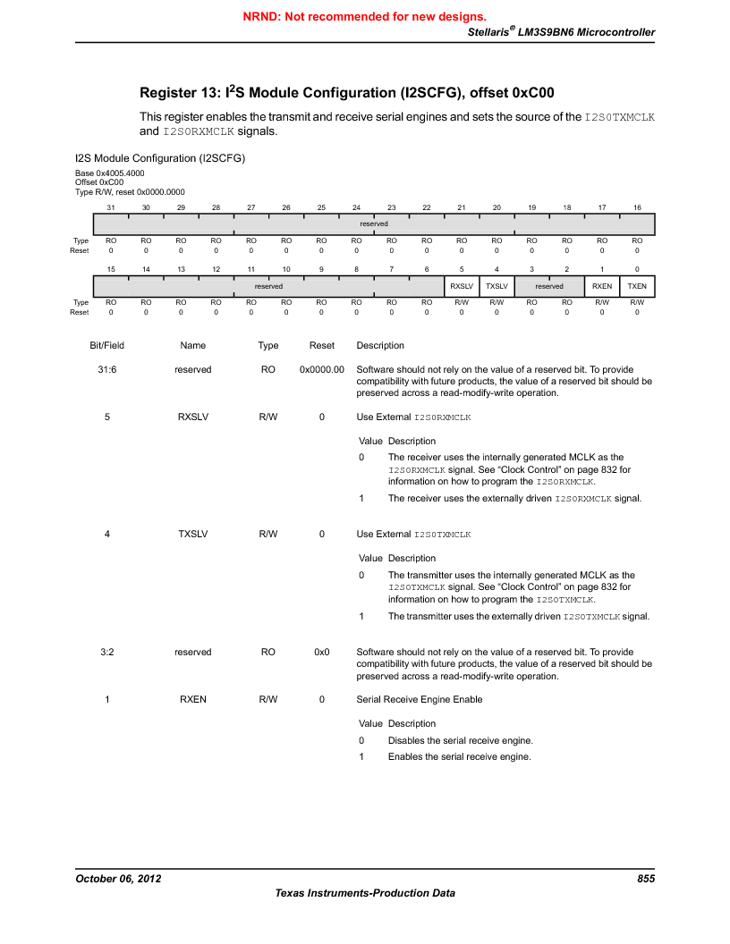 LM3S9BN6-IBZ80-C5 ,Texas Instruments厂商,Stellaris LM3S Microcontroller 108-NFBGA -40 to 85, LM3S9BN6-IBZ80-C5 datasheet预览  第855页